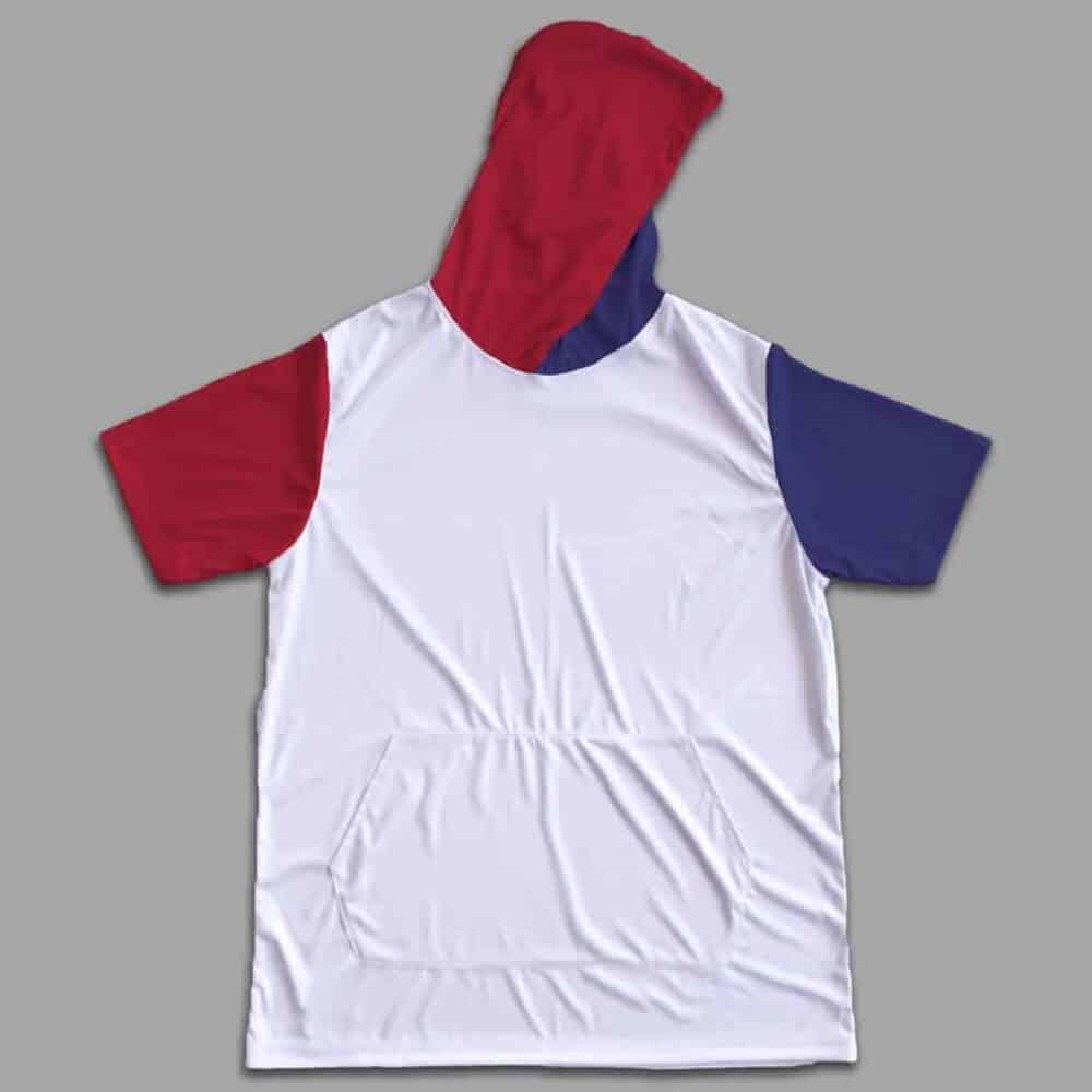 hooded shirt USA colors